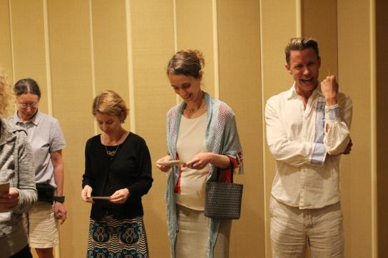 Mai 2018, réunion de planification du comité de l'ACQS à La Nouvelle Orléans : Leslie Choquette, Kate Harrington, Susan Pinette et Charles Batson
