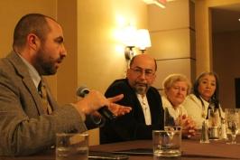 3 nov. 2018 - Table ronde avec Michael Dardar et Janie Verret Luster, de la Nation unie houma, et l'alliée de la tribu Marie-Françoise Crouch (au milieu).