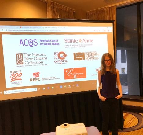"""2 nov. 2018 - La professeure Laura Atran-Fresco a organisé la séance : """"Entre filiation acadienne et pluralité culturelle."""""""