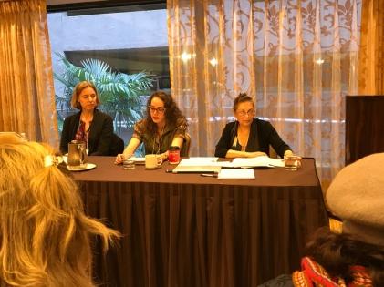 """Rachel Doherty, doctorante à UL-Lafayette et stagiaire de la CRÉAcT en 2017-18, présente sa communication intitulée : """"Spectres créoles, cercles magiques, queer roots et strange fruit dans Amédé de Georgette Leblanc"""""""