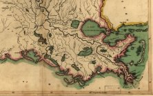 Image 2 : Région sud-est de la Louisiane vers 1814. Image tirée d'une carte de Mathew Carey, Carey's General atlas of the world and quarters. L'entrée de la Baie de Barataria se situe entre le Mississippi et le bayou Lafourche, par lequel les contrebandiers transportaient esclaves et marchandises vers la Nouvelle-Orléans afin de contourner les postes douaniers à l'embouchure du fleuve. Provenance : Library of Congress, Geography and Map Division, www.loc.gov/item/2002624016/