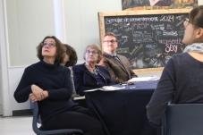 La discussion s'est ouverte par un reportage du TFO sur la montée des groupes francophobes à travers le Canada.