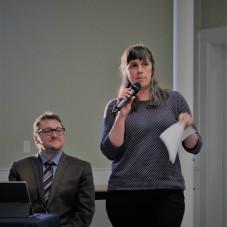 Mot d'accueil de Natalie Robichaud, directrice de la Société acadienne de Clare qui a parrainé la Classe de maître.